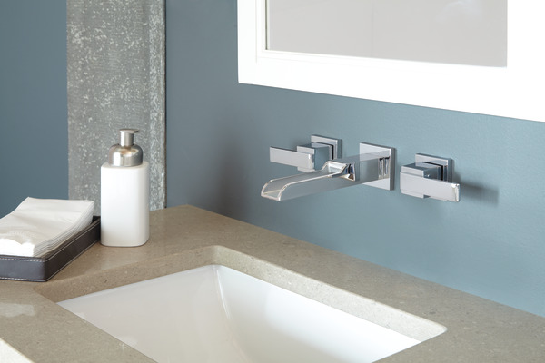 delta wall mount bathroom sink faucet two handle wall mount channel bathroom faucet trim t3568lf 25233
