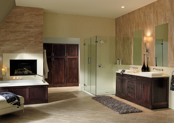 Traditional Bathroom Design In Bristol: Two Handle Wall Mount Bathroom Faucet Trim T3597LF-PNWL