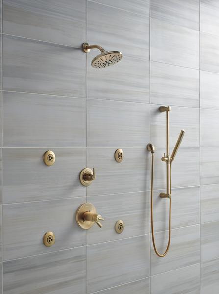 Tempassure 17t Series Tub Shower Trim T17t497 Rb: TempAssure® 17T Series H2Okinetic® Shower Trim T17T259