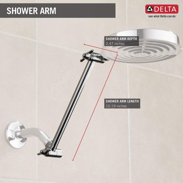 Adjustable Shower Arm Ua902 Pk Delta Faucet