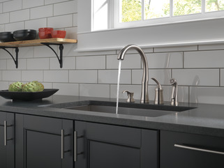 Single Handle Kitchen Faucet With Spray Amp Soap Dispenser