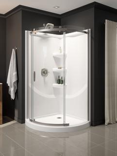 Round Corner Shower Enclosure B911917 3838 Ss Delta Faucet