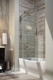 60 Quot X 30 Quot Curved Bathtub Shower Door B55910 6030 Ss