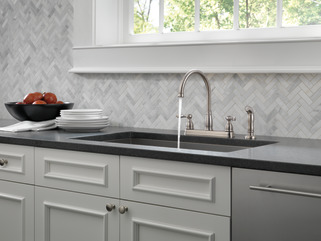 21996lf-ss - two handle kitchen faucet