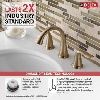 Two Handle Widespread Bathroom Faucet 3538 Czmpu Dst