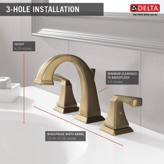 Two Handle Widespread Bathroom Faucet 3551lf Cz Delta Faucet