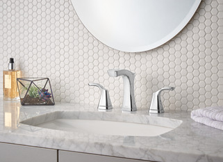 Two Handle Widespread Bathroom Faucet Metal Pop Up 3552