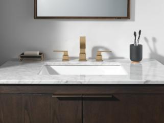 Two Handle Widespread Bathroom Faucet 3553lf Cz Delta Faucet