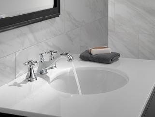 Two Handle Widespread Bathroom Faucet Low Arc Spout