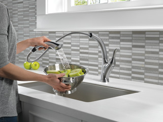 Single Handle Pull Out Kitchen Faucet 4153 Ar Dst Delta