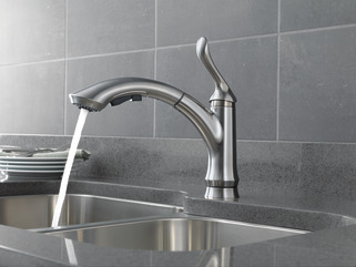Single Handle Pull Out Kitchen Faucet 4353 Ar Dst Delta