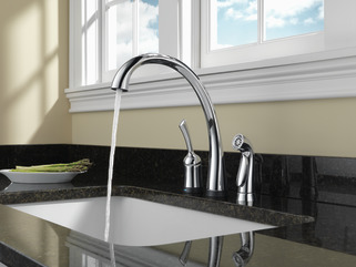 Single Handle Kitchen Faucet With Touch2o 174 Technology And Spray 4380t Dst Delta Faucet