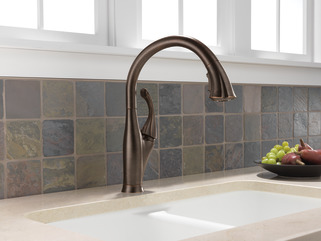 Single Handle Pull Down Kitchen Faucet With Shieldspray