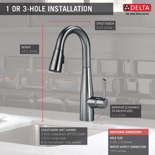 Single Handle Pull Down Bar Prep Faucet 9913 Ar Dst