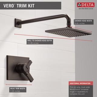 Delta T17253-SS Vero Monitor 17 Series Shower Trim ...
