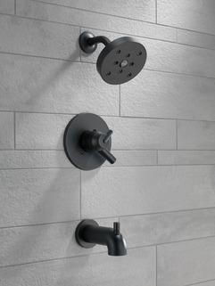 t17459 bl monitor 17 series h2okinetic tub and shower trim. Black Bedroom Furniture Sets. Home Design Ideas