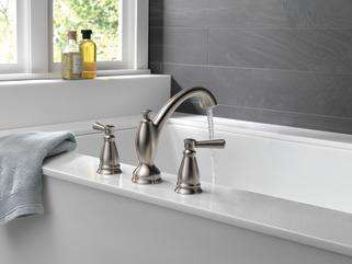 Traditional Roman Tub Trim T2793 Ss Delta Faucet
