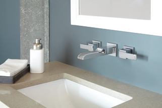 Two Handle Wall Mount Channel Bathroom Faucet Trim T3568LF-WL ...