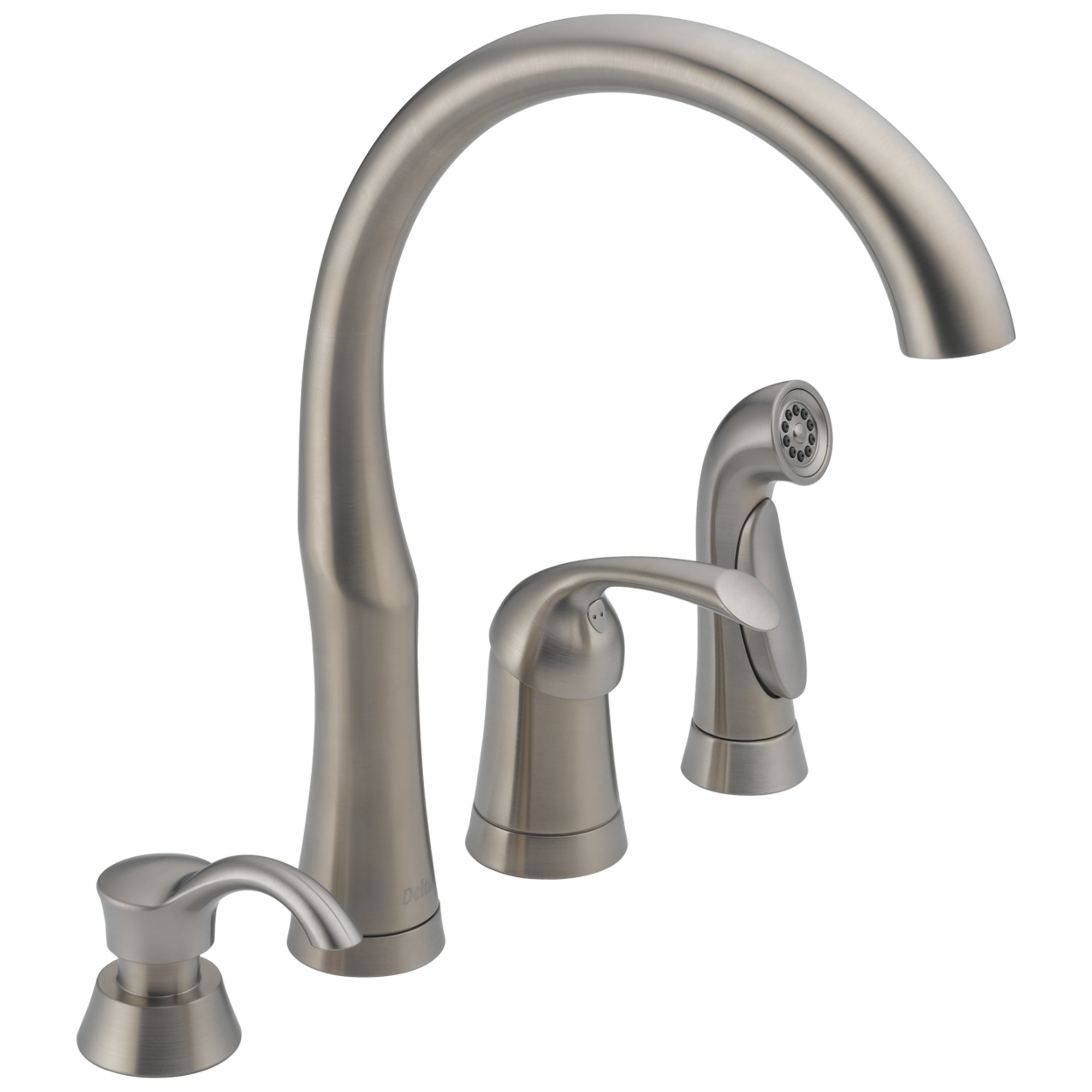11946 sssd dst single handle kitchen faucet with spray soap download high resolution image