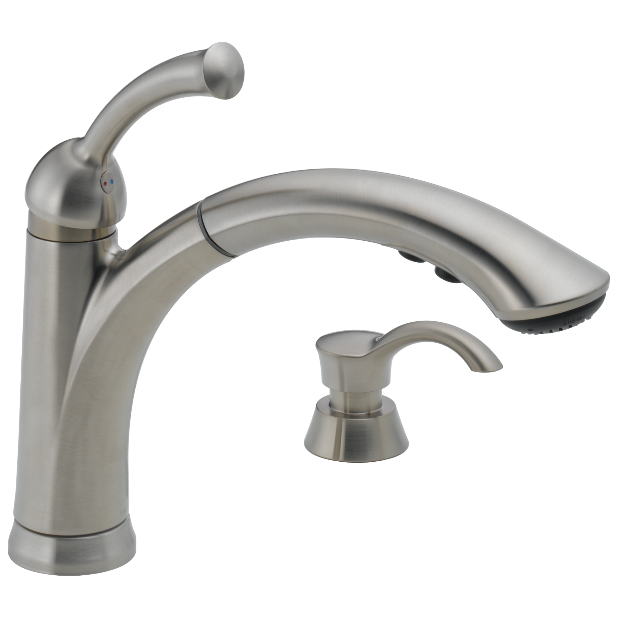 sssd dst single handle pull out kitchen faucet with soap