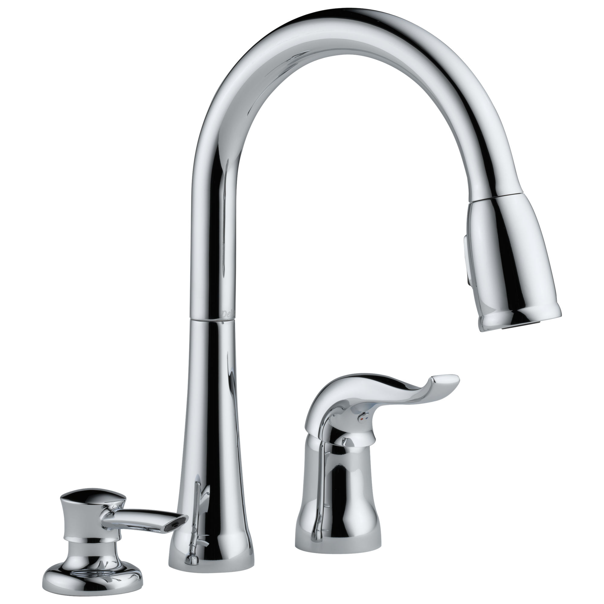 SD DST Single Handle Pull Down Kitchen Faucet with Soap