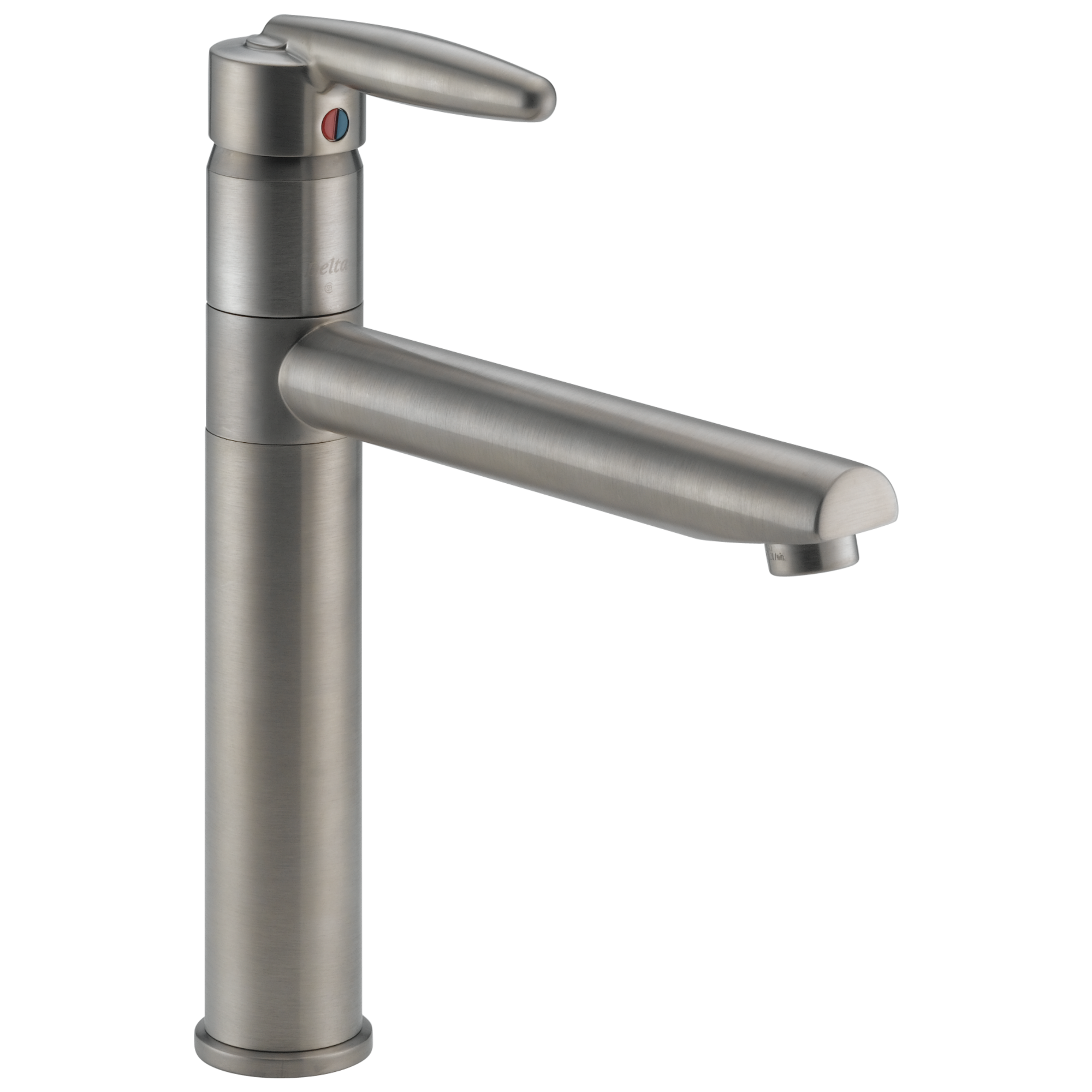 delta 185lf ss grail single handle kitchen faucet stainless by delta