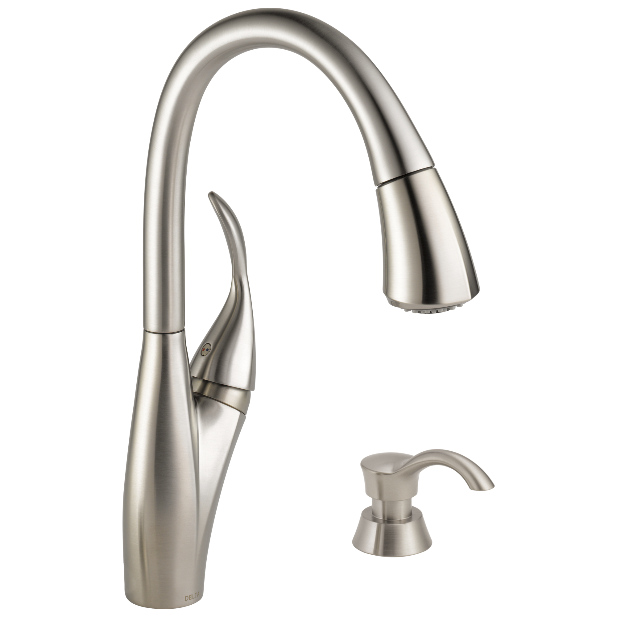 Discontinued Delta Kitchen Faucets 19932 Sssd Dst Single Handle Pull Down Kitchen Faucet With Soap
