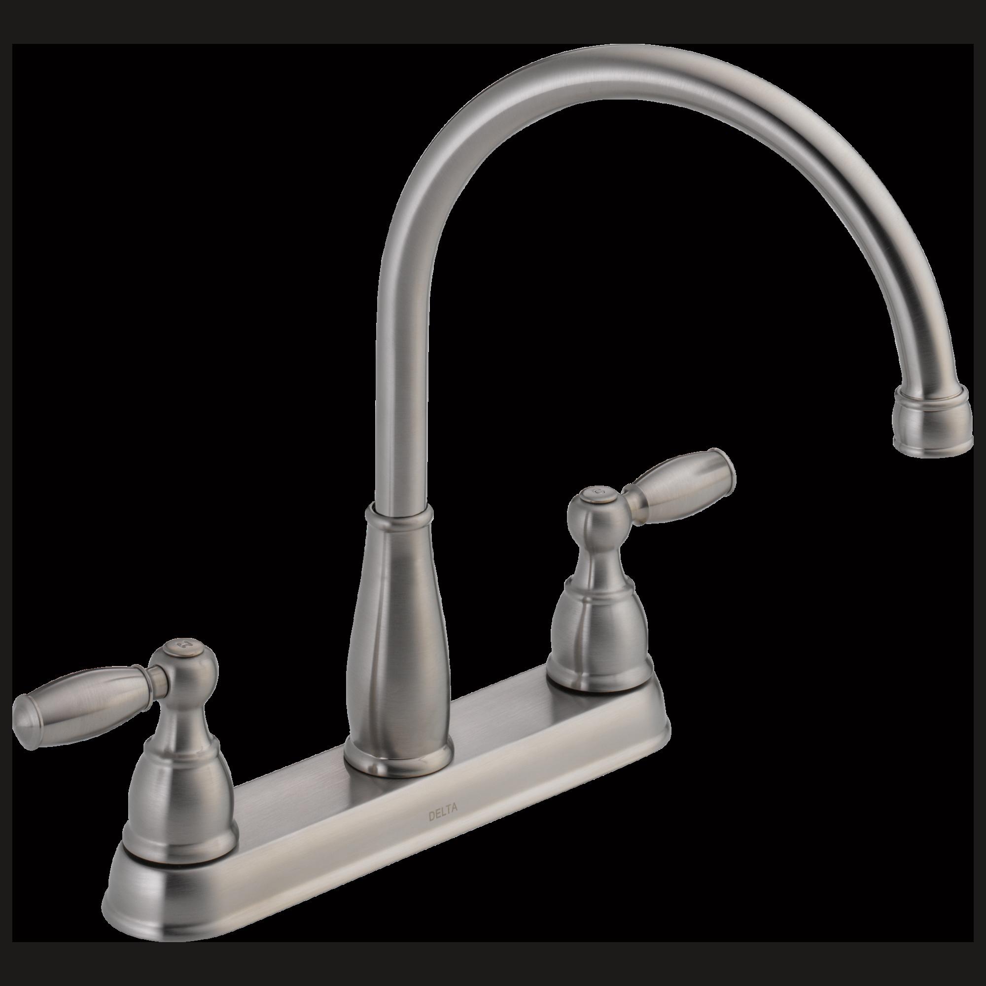 Delta Kitchen Faucets Warranty 21987lf Ss Two Handle Kitchen Faucet