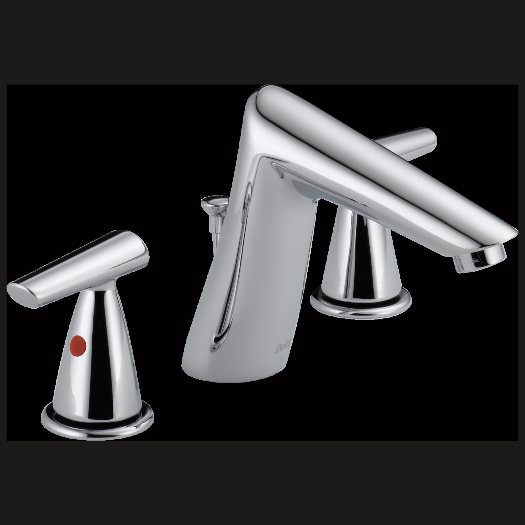 Delta 3582lf Mpu Rizu 2 Handle Widespread Lavatory Faucet Chrome Ebay