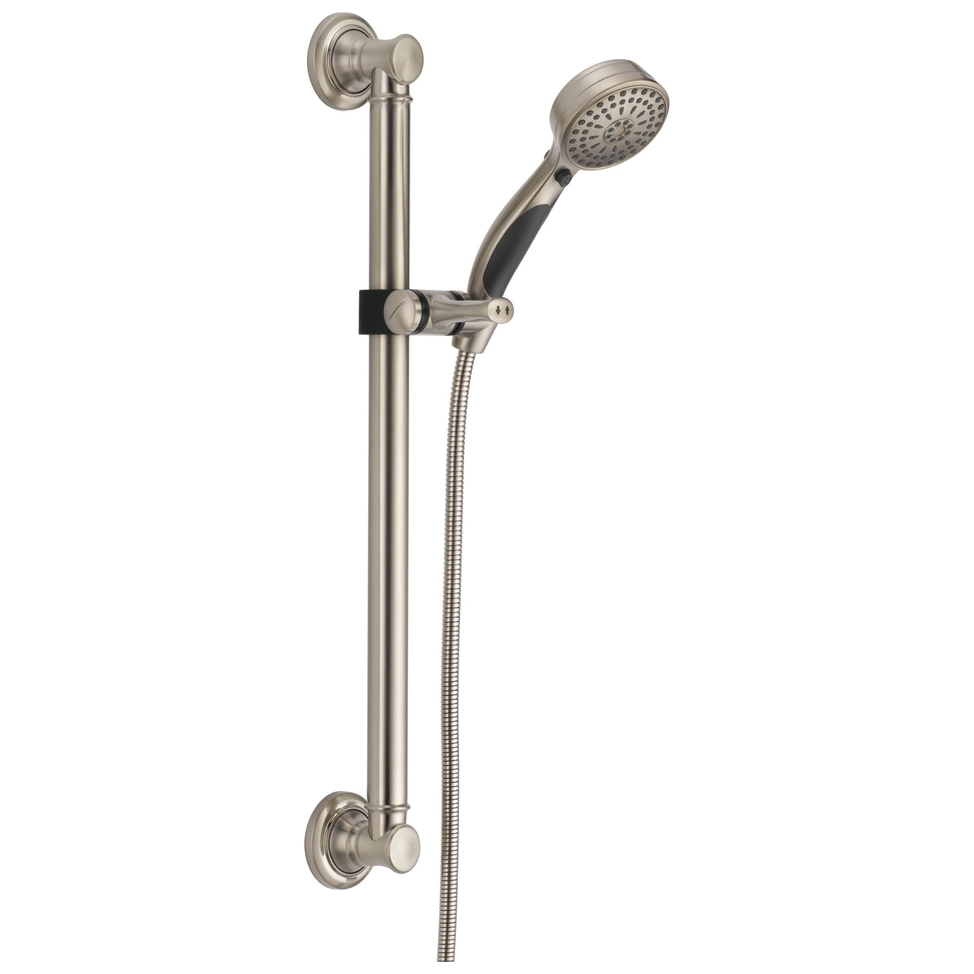 Delta Universal Showering Components: Activtouch® 9-setting Hand Shower With Traditional Slide Bar / Grab Bar
