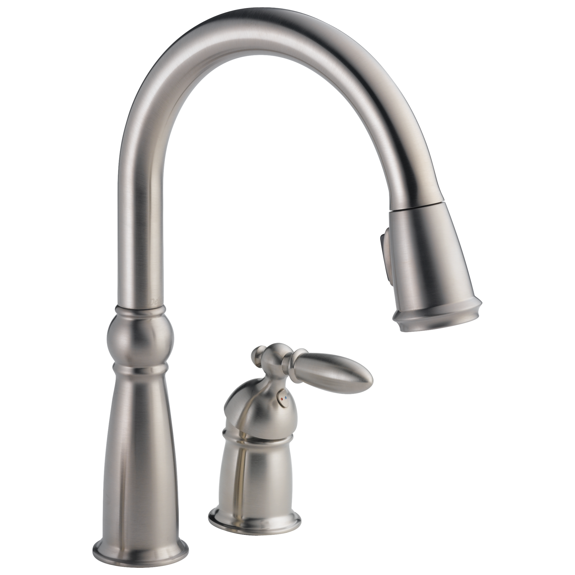 Delta-955-SS-DST Victorian, Single Handle Pull-Down Kitchen Faucet, Stainless