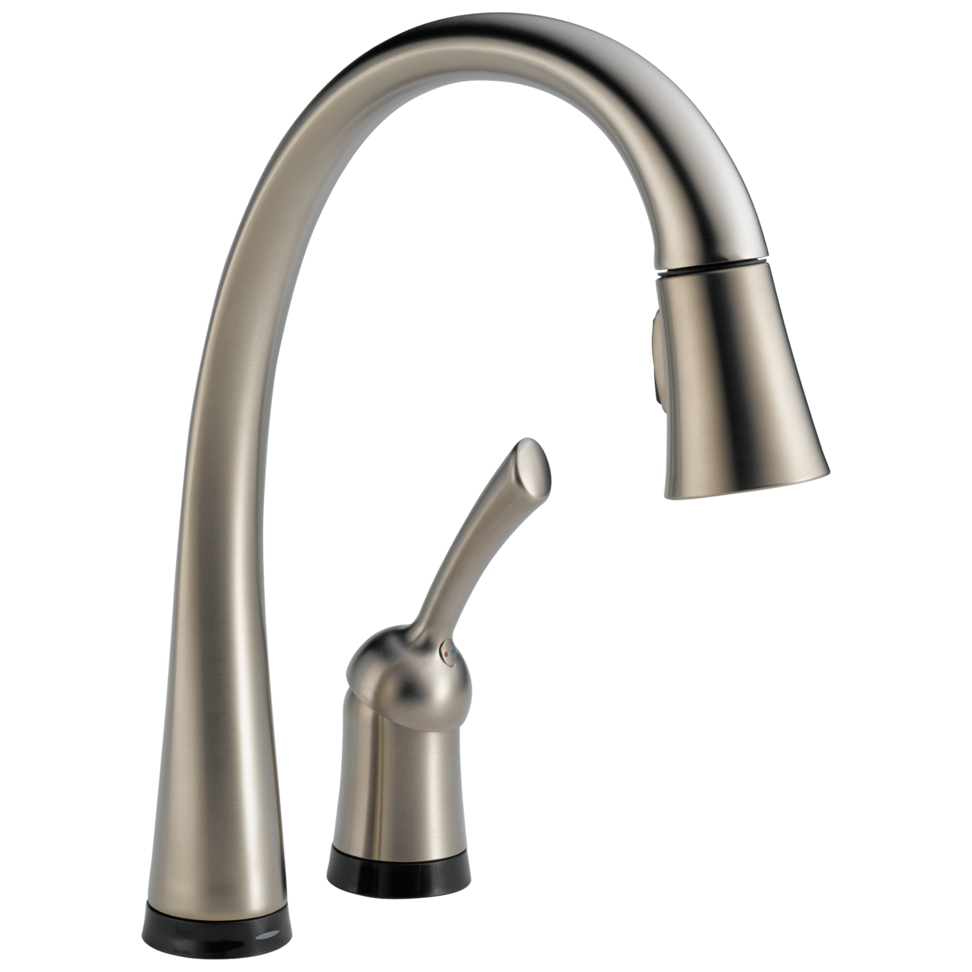 980t ss dst single handle pull down kitchen faucet with touch2o