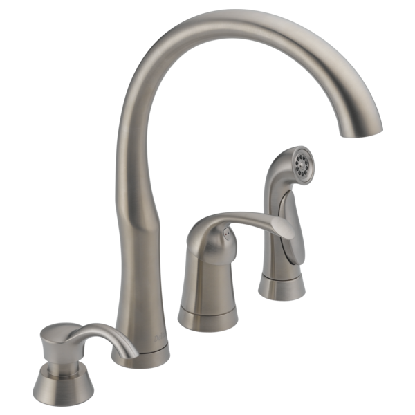 Single Handle Kitchen Faucet With Spray U0026 Soap Dispenser