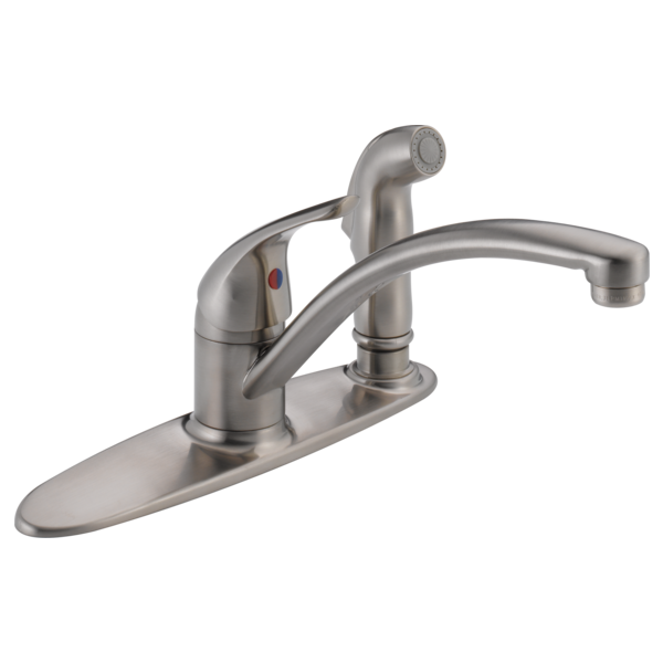 Single Handle Kitchen Faucet With Integral Spray