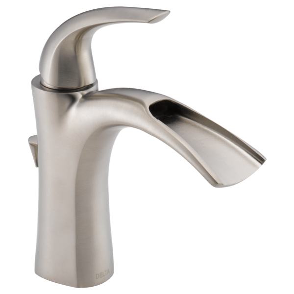 Single Handle Bathroom Faucet 15708lf Ss Eco Delta Faucet
