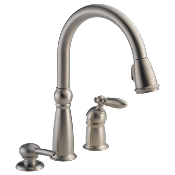 Single Handle Pull Down 16955 Sssd Delta Faucet