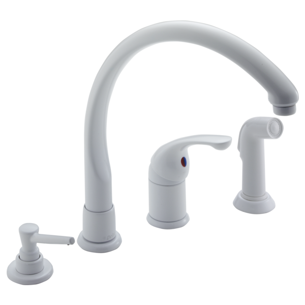 Single Handle Kitchen Faucet with Spray & Soap Dispenser 174-WHWF ...