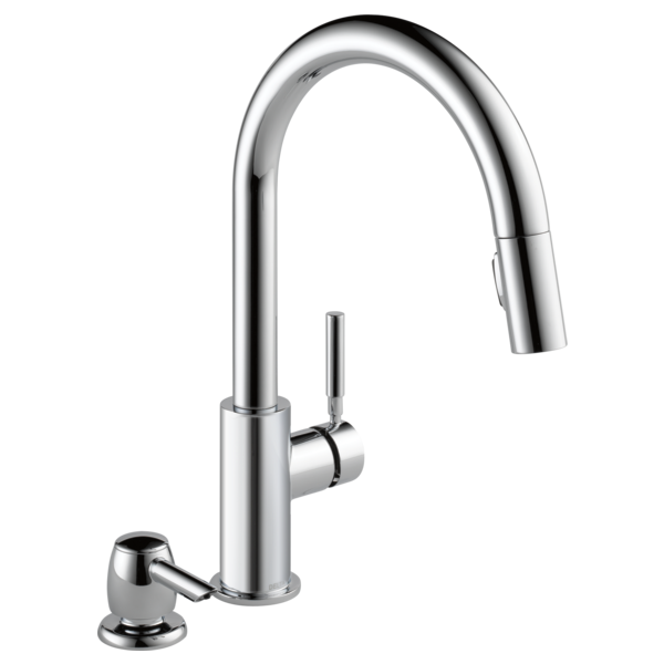 Single Handle Pull Down Kitchen Faucet With Soap Dispenser 19933 Sd