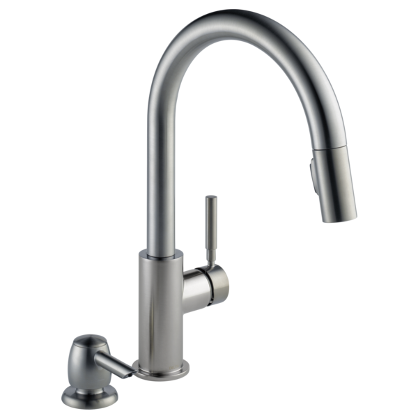 19933 SPSD DST   Single Handle Pull Down Kitchen Faucet With Soap Dispenser