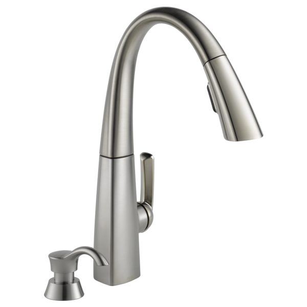 Delta Pull Down Kitchen Faucet kitchen faucets, fixtures and kitchen accessories | delta faucet