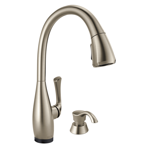 Delta Pull Down Kitchen Faucet 19940t-spsd-dst - single handle pull-down kitchen faucet with