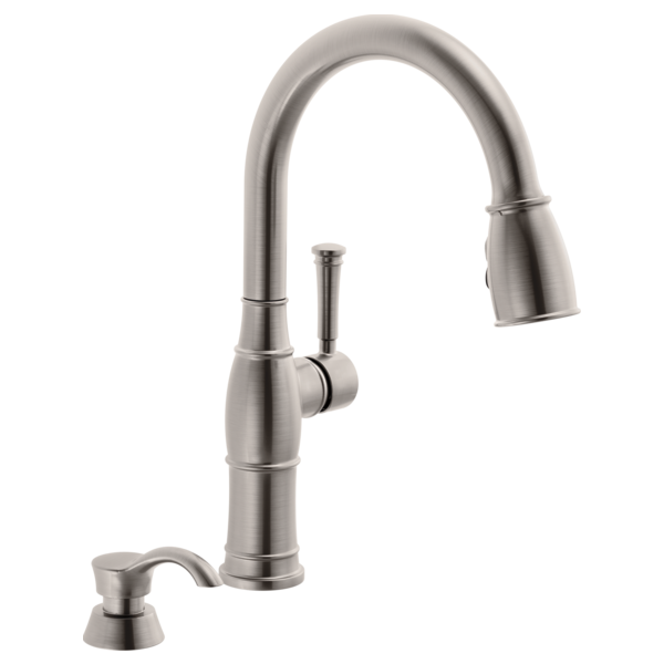 Single Handle Pull-Down Kitchen Faucet with Soap Dispenser 19957 ...