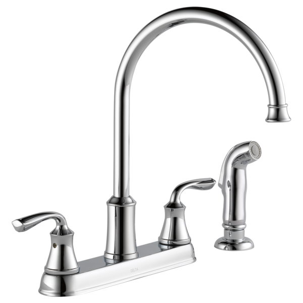 Two Handle Kitchen Faucet With Spray 21716LF