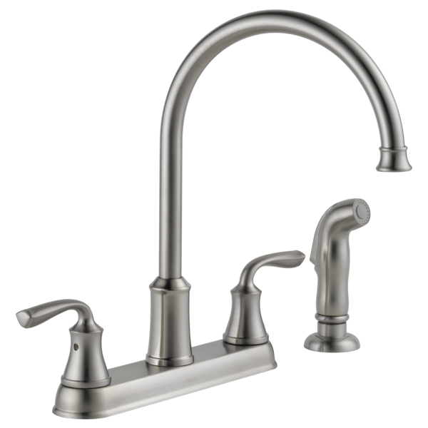Two Handle Kitchen Faucet With Spray 21716lf Ss Delta Faucet