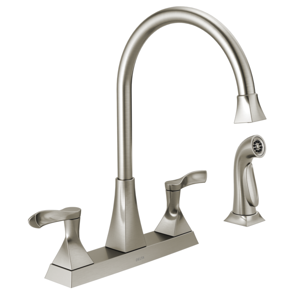 Two Handle Kitchen Faucet With Spray 21741lf Ss Delta Faucet