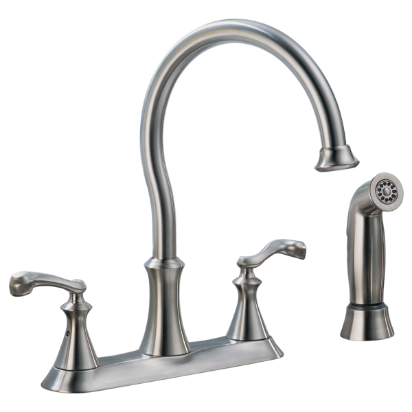 Two Handle Kitchen Faucet With Spray LFSS Delta Faucet - Home depot kitchen faucets with sprayer