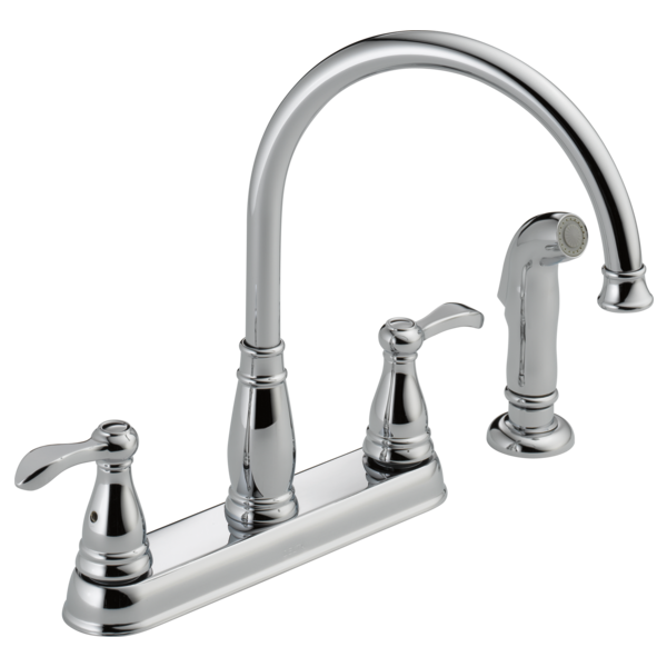 Two Handle Kitchen Faucet With Spray 21984lf Delta Faucet