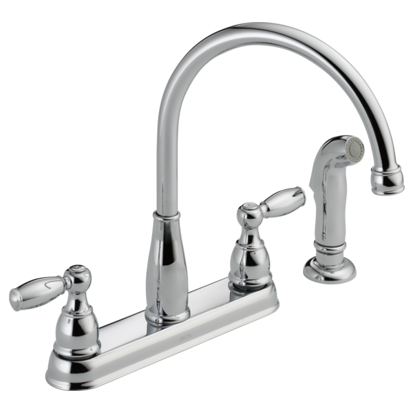 Two Handle Kitchen Faucet With Spray 21988lf Delta Faucet