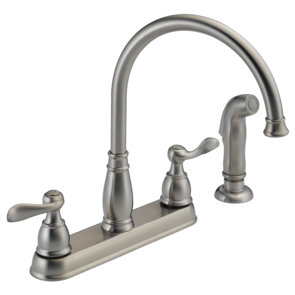 Delta 2 Handle Kitchen Faucets 21996lf-ss - two handle kitchen faucet