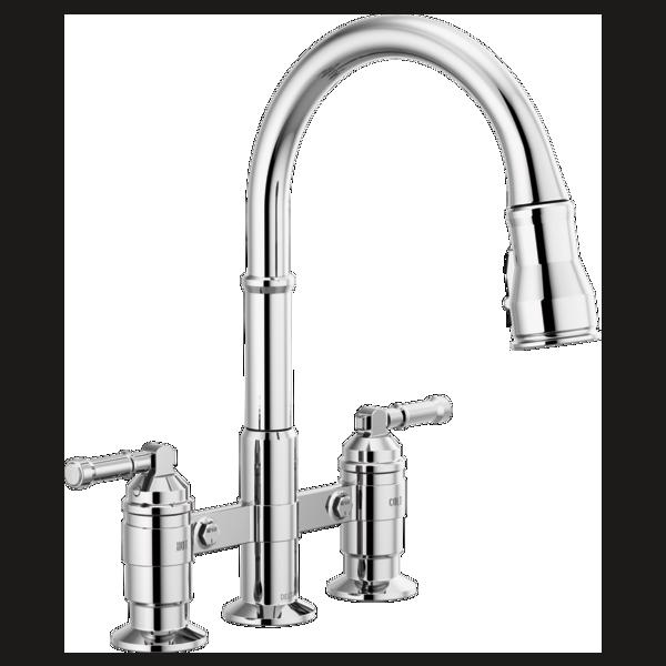 Two Handle Pull Down Bridge Kitchen Faucet 2390l Dst Delta Faucet